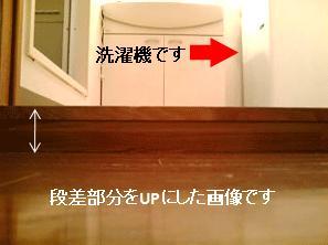 入口との段差
