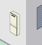 屋外壁掛け型