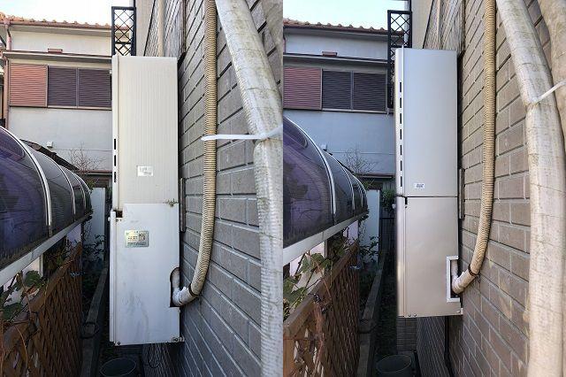 ガス給湯器工事の施工現場のご紹介