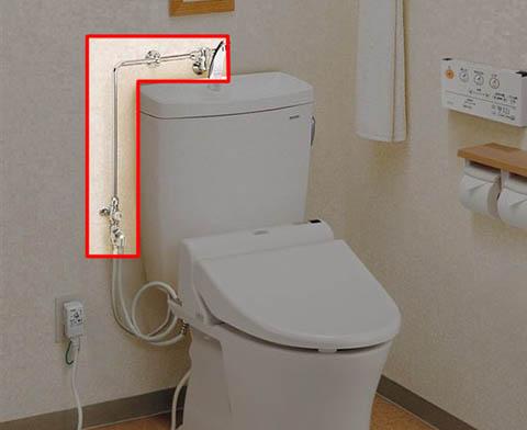 止水栓が高いトイレに便利な部材