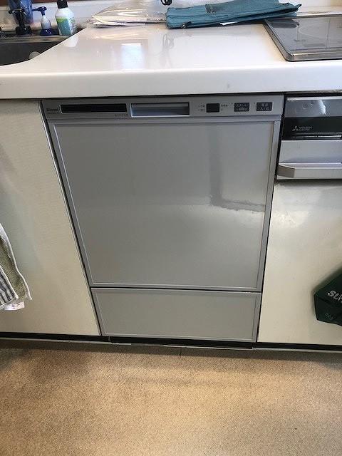 ホシザキ製食洗機をリンナイ製フロントオープンタイプへ