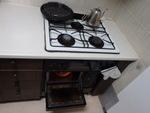 ビルトインガスコンロとオーブン