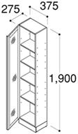 INAX LCWS-372SA 対面収納キャビネット