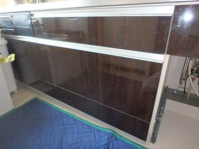 45センチ幅の収納+45センチ幅ビルトイン食洗機の新規設置