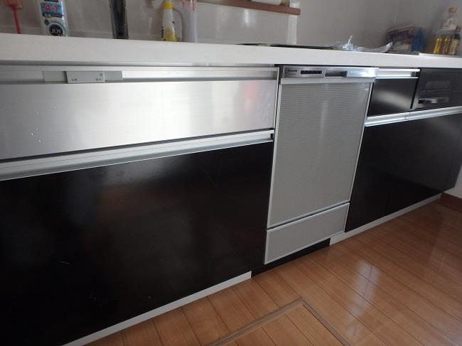 ファーストプラスキッチンに食洗機設置